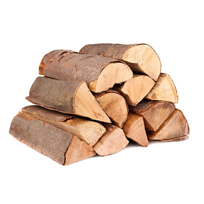 Eiche Brennholzstapel