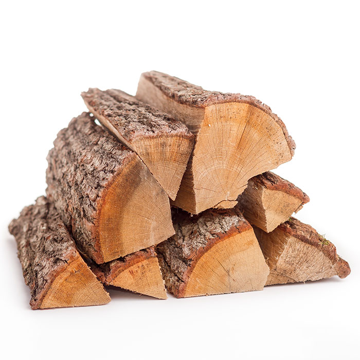 Laubmischholz Brennholzstapel