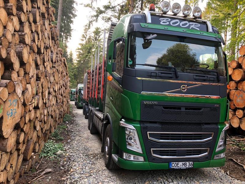 Transport zum brennholz handel boor